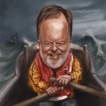malcolm harvey - caricature by tony parsons