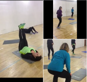 Circuit training images of people doing exercise inside