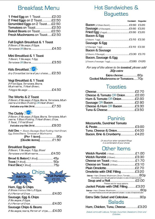 Java Cafe Woodingdean Menu - where to eat in Woodingdean