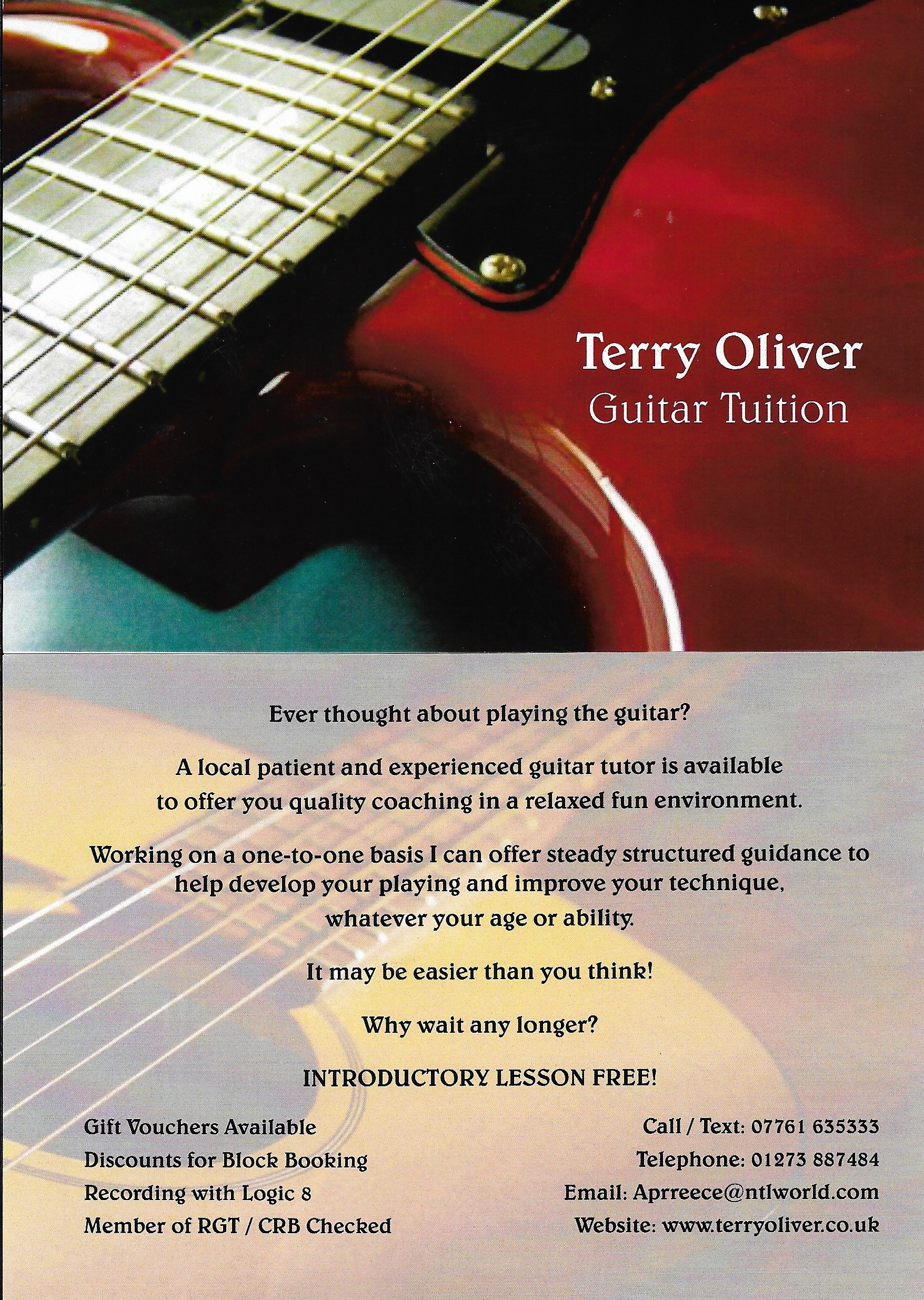 Terry Oliver Guitar Lessons